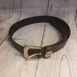 Michael Kors leather brown belt size S